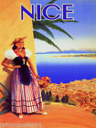 FRENCH VINT NICE CITY BEACH FRANCE EUROPE REPRO POSTER