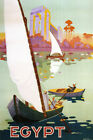 EGYPT ARAB ARABIC NILE RIVER SAILBOAT BOAT TRAVEL TOURISM VINTAGE POSTER REPRO