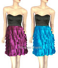 Sweetheart Cocktail Party Evening Prom Shift Dress Black Purple Size 8 10 12 14