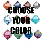 6 Swarovski Crystal 8mm Faceted Bicone Beads~Colors A-E