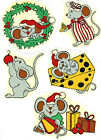 Ceramic Decals Playful Holiday Christmas Mice
