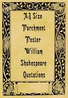 A4 Parchment Poster William Shakepeare To Be Quotations
