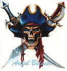 Ceramic Decals Pirate Skull Crossed Swords image