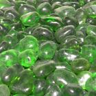 "ECO Glass Jade Green 1/4"" ECO Glass Fire Glass Fireglass Fireplace Crystals Logs"
