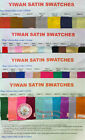 Yiwan satin colour swatches -red burgundy black ivory blue fuchasia pink,etc.