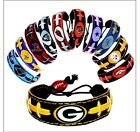 NFL-Team Color Leather Football Bracelet - Pick Team $2.0 USD on eBay