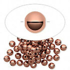 100 OR 1000 Round Copper Smooth Spacer Beads 4mm