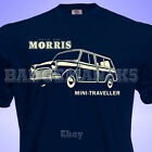 Classic MORRIS Mini TRAVELLER WOODIE Mens T SHIRT Perfect for Rallies