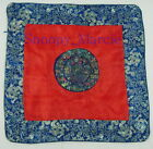 """New Chinese Dragons Brocade Cushion Covers Dark Blue 16"""" X 16"""" One Piece GB0486"""