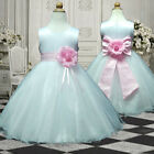 UKMD57 Pink Wedding Pageant Party Flower Girls Dress 1,2,3,4,5,6,7,8,9,10,11-13