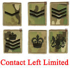 New Multicam / MTP Velcro Rank Badges LCPL, CPL, SGT, SSGT, WO2, WO1