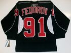 SERGEI FEDOROV DETROIT RED WINGS BLACK RBK JERSEY