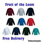 Fruit of the Loom Kids Children Sweatshirt Work Wear Sweater Plain Ages 3-15