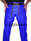 men s leather pants NEW leather trousers carpenter leather pants new black