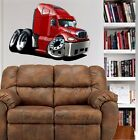 Freightliner Columbia Big Rig Cartoon WALL GRAPHIC FAT DECAL MAN CAVE MURAL 9297