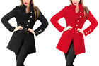 Princess Charm Women Black Woollen Coat Jacket 4 Winter Size 8 10 12 14 16 18 20