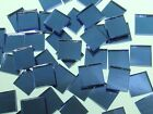 BLUE MOON MIRROR WATERGLASS handcut stained glass mosaic tiles #70
