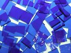 BLUEBERRY ROUGH ROLLED handcut stained glass mosaic tiles #214