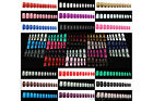 Selections of 120 pcs European Style Full Nails (Short) with Glue - Whole Nails