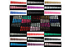 120 pcs European Style Full Whole Nails (Short) with Glue 25 Colours available