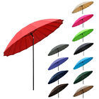 2.5m Tilting Parasol Sun Shade Protection Garden Patio Furniture Umbrella Brolly