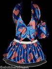 USA American July 4th Girl Commonwealth Waistcoat & Pleated Tutu & Pouch