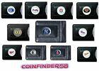 Fine Leather Money Clip Wallet [NEW] MLB Black Billfold - Pick Team on Ebay