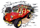 1969 Red VW Dune Buggy Custom Hot Rod Garage T-Shirt 69, Muscel Car Tee's