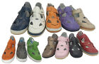 Ladies Shoes Cherry Vivian Leather Flats Hook and Loop Tab Colours Sizes 5-10