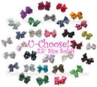 """BOWS BY PAIR U-Choose 2.5"""" For Squeaky Shoes or Hair 1-Prong Clip SOLID COLORS"""