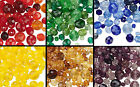 100 Czech Glass Faceted Round Beads Mix * Red Green Yellow Purple Blue OR Browns