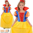 Snow Princess Girls Fairytale Snow White Fancy Dress Child Kids Costume Age 4-12