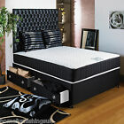 "NEW 3ft6"" Large Single BLACK QUILTED ORTHO MEMORY FOAM DIVAN BED + 11"" MATTRESS"