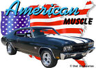 1970 Black Chevy Chevelle SS c Custom Hot Rod USA T-Shirt 70, Muscle Car Tee's
