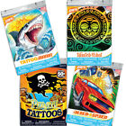 Boys Temporary Tattoos - 50 assorted tattoos