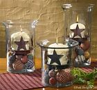 STAR CANDLE PAN~VOTIVE OR PILLAR~Choice Red or Black