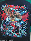 Black Mens 100% Cotton Dixie Pride T Shirt mens New pre shrunk Med large
