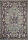 TRADITIONAL PERSIAN SILVER AREA RUG BORDER ORIENTAL MULTI-COLOR CARPET