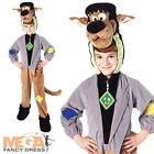 Deluxe Kids Scooby Doo Monster Fancy Dress Halloween Boys Girls Dog Costume