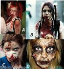 Zombie Skin & Fake Blood with Instructions Halloween Make-up Fancy Dress