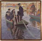 Church Goers In Boat Carl Wilhelmson 1909 Repro Art Photo/Poster Print Satin/Can