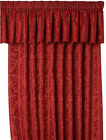 LANA DAMASK CURTAIN PELMETS IN WINE RED