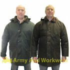 Wax Padded Jacket Oilskin Coat Heavy Wet Weather Mens Hunting Fishing Walking