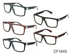 Clear Lens Glasses Hipster Black UV400 Retro Mens Womens 1980s Square New CF1845