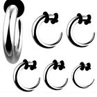 Pair Steel Hook Tapers Expanders Stretchers Ear Plugs Tunnels Earlets Gauges