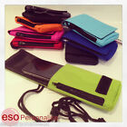 Phone Pouch - Smartphone Carry Case Cover Protector Neck cord Belt Loop