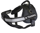 """Dean & Tyler """"DT Works with Chest Pad"""" Dog Harness with Removable Patches and"""