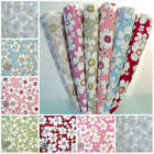 MORGAN - CONTEMPORARY FLORAL PRINT per m 100% COTTON FABRIC Fashion Patchwork