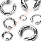 316L Surgical Steel Spike Horse Shoe Bar Circular Ring Body Piercing Jewellery