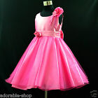 AU HP668 Hot Pink Wedding Bridesmaid Flower Girls Dress SZ 1-2-3-4-5-6-7-8-10-12